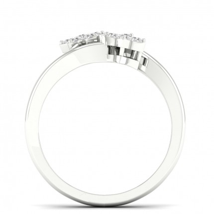 Bague fantaisie diamant rond serti micro griffes
