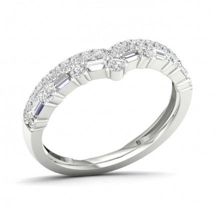 Anillo De Forma De Diamante De Ajuste Cómodo Y Ligero Con Tachuelas De 2,70 Mm