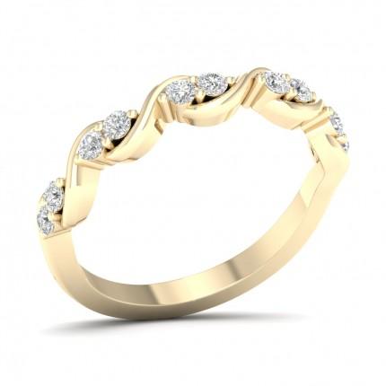 Anello Con Mezzo Diamante Eternity Rotondo Con Montatura A Griffe