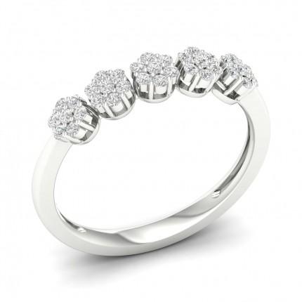 Bague fantaisie diamant rond serti griffes
