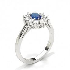 Oval Sapphire Diamond Engagement Rings