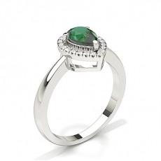 Tropfen Smaragd Verlobungsringe