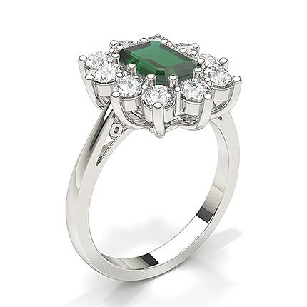 Emerald Halo Emerald Engagement Ring