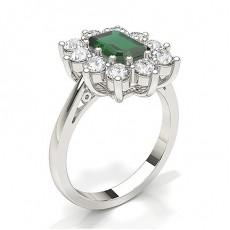 Emerald Emerald Diamond Engagement Rings