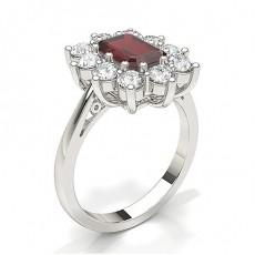 Emerald Ruby Diamond Engagement Rings