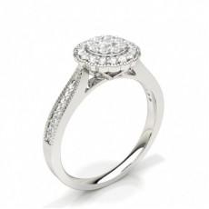 Zinkeneinstellung runder Diamantclusterring