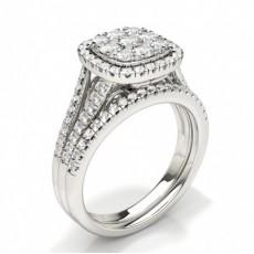 Rund Brude Forlovelses og Gifterings Sett