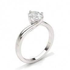 Oval Bague solitaire diamant