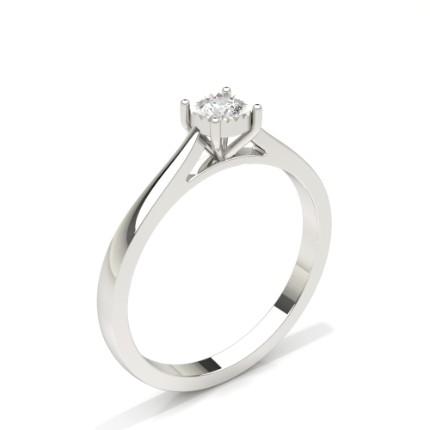 Ip Plate Sett Rund Diamant Solitær Forlovelsesring