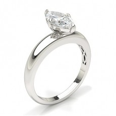 Marquise Solitaire Diamond Rings