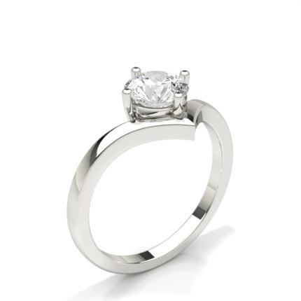 Bague de fiançailles diamant solitaire serti griffes