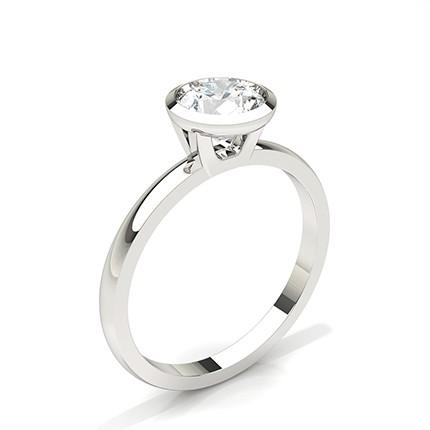 Lünette Einstellung Solitaire Diamond Verlobungsring