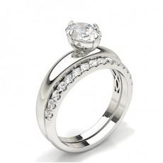 Oval Bridal Set Engagement Ring