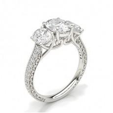 Zinkeneinstellung Trilogie Diamant Verlobungsring