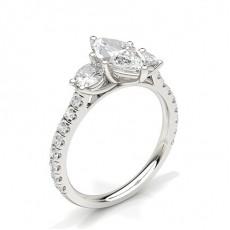 Marquise Anelli con 3 diamanti