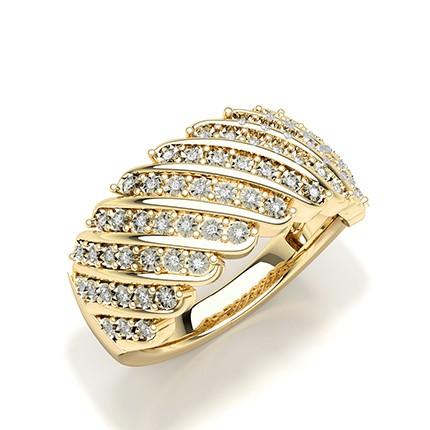 Illusionsplade Rund Diamant Fashion Ringindfatning