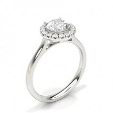 Platinum Halo Engagement Rings