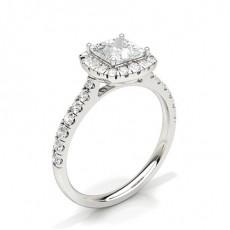 Princess Halo Engagement Rings