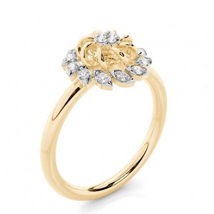 Anello Con Diamante Rotondo Everyday Con Montatura A Griffe