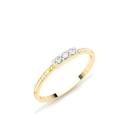 Prong Set Round Diamond Everyday Ring