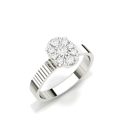 Diamant Cluster Ring mit Mikrozinken