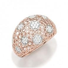 Rose Gull Hverdags Diamantringer