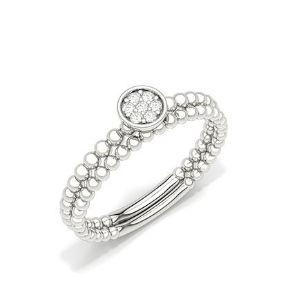 Micro Prong Setting Round Diamond Everyday Ring