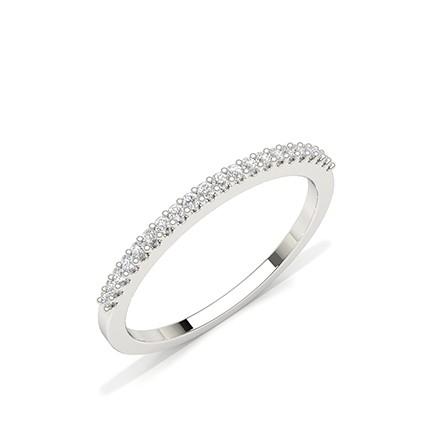 Geteilte Zinkeneinstellung rundes Diamant-Ehering