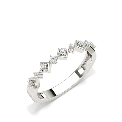 Alliance diamant rond serti griffes