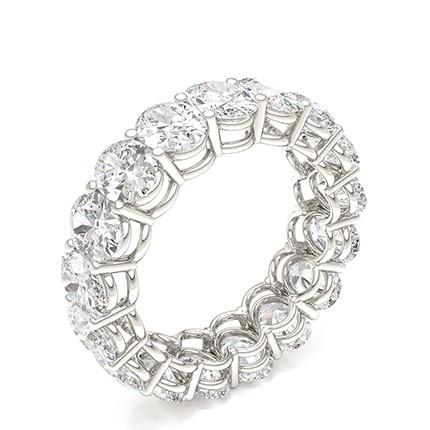 Prong Setting Oval Diamond Full Eternity Ring