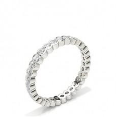 Lünette Einstellung Round Diamond Full Eternity Ring