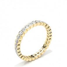 Oro giallo Anelli con diamanti Full Eternity