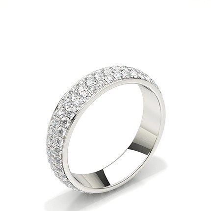 Pave Setting Round Diamond Full Eternity Ring