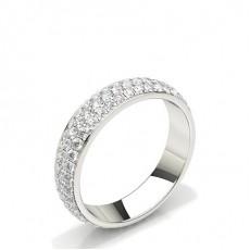 Pflasterstein für den runden Diamantring mit voller Ewigkeit
