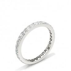 Zinkeneinstellung Round Diamond Full Eternity Ring