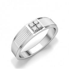 Bagues Diamants Platine Homme