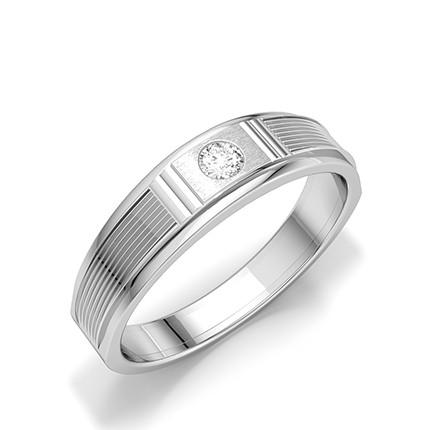 Kanal Innfatning Rund Diamant Ring Til Mann