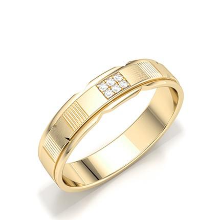 Micro Pave & Micro Prong Setting Round Diamond Mens Rings