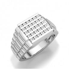 Rund Diamant Ringer For Herrer