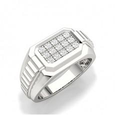 White Gold Men's Diamond Rings