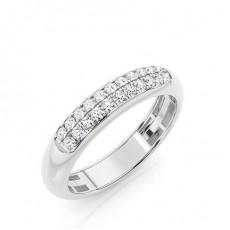 Weißgold Trauringe mit Diamant