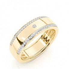 Men's Yellow Gold Diamond Wedding Rings
