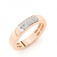 Rose Gold Men's Diamond Wedding Bands