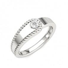 Platina Diamant Ringer For Herrer